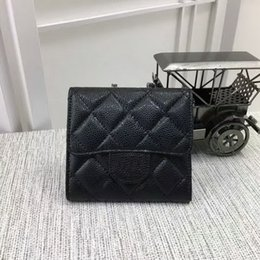 Wholesale Womens Black Wallet - Free Shipping New Hot sell womens caviar classic Casual fashion famous brand wallet womens caviar classic fashion famous brand purse #82288