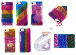 liquid case samsung galaxy a5 Desconto Rainbow tpu líquido case para galaxy note 8 s8 mais s7 (j7 j5 j3 a5 a5) 2017 flutuante glitter sparkle capa em pó mágico