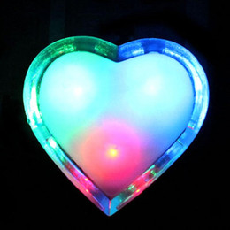Wholesale Wholesale Heart Shaped Plugs - Wholesale- 2017 New Heart Shaped Wall Nightlights Energy Saving Long Life Colorful LED Night Light Romantic Home Decor Lamp Light US Plug