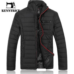 Wholesale Winter Park - Wholesale- Kenntrice Brand New Black Jackets Men Coats Slim Cotton-padded Parks Sportswear Outerwear Thick Warm Winter Chaqueta Hombre