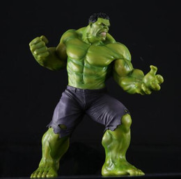 Wholesale Crazy Action Figures - New PVC 10'' Big Marvel Avengers Hulk Action Figure Collectable Model Muscle Man Superman Crazy Toy Top Grade Gift DMX0036