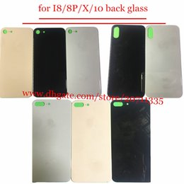 Wholesale Iphone Back Housing Glass - 10pcs OEM A quality 2018 NEW with sticker Back Rear Cover Battery Housing Door glass For iPhone X 8  8 plus back glass