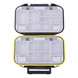 boite imperméable abs en plastique Promotion Boite de pêche Accessoires Imperméable à l'eau Leurre Bait Tackle Hooks Stockage Avec 12 compartiments individuels Plastique ABS durable
