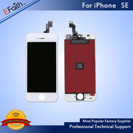 Wholesale iphone white replacement screen digitizer - Grade A +++No Dead Pixel For White iPhone SE LCD Screen Display for SE Screen Digitizer Replacement & Free Shipping