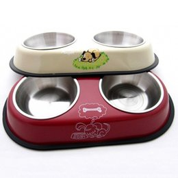 Wholesale Large Red Bowl - Large Dog Supplies Bowl Pet Supplies Small Large Size Durable Easy Washing Anti Slip Dog Bowls Red Cream White Color 2 Sizes--L