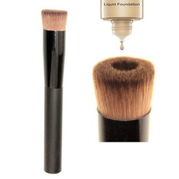 Wholesale Professional Liquid Foundation - High quality Large Flat Professional Perfecting Face Brush Multipurpose Liquid Foundation Brush Premium Premium Face Makeup Brush DHL Free