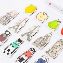 Wholesale Bookmark Tower - 5pcs pack Fruit Party Iron Tower Bookmark Colorful Magnetic Clip School Office Supply Escolar Papelaria Gift Stationery