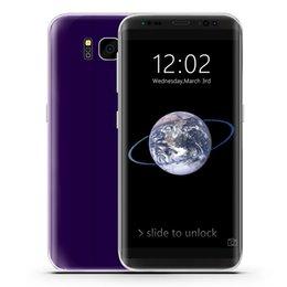 Wholesale Dual Sim Arabic Wifi Quad - 1GB 16GB Goophone S8 S8 Plus 3G WCDMA Quad Core MTK6580 Android 7.0 5.5 inch IPS 1280*720 HD GPS WiFi 12.0MP Camera Dual Sim Card Smartphone