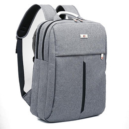 """Wholesale Fashionable Backpacks - Wholesale- 2017 New Swiss bag Backpack for 15"""" laptop Fashionable Simple Business Backpack Travel Bags With Alloy Handle"""