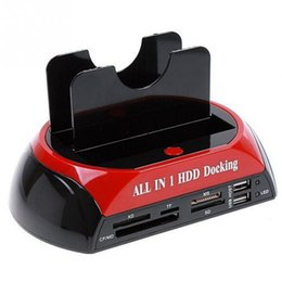 Wholesale USB2 to quot quot IDE SATA HDD Docking Station HDD Docking all in one card reader USB HUB