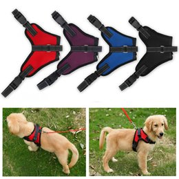 Wholesale Pet Supplies Reflective Dog Collar - Kimter Pet Dog Supplies Travel Dog Harness Large Mesh Reflective Harness 4 Sizes 4 Colors Pet Supplies Backpacks Free DHL C32L