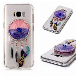 Wholesale Case For Star A3 - Bling Glitter Stars Liquid Cover Case For Samsung Galaxy S6 S7 edge S8 Plus A3 A5 2017 J3 Prime J3 Emerge Dreamer Catcher Bear Phone Cases