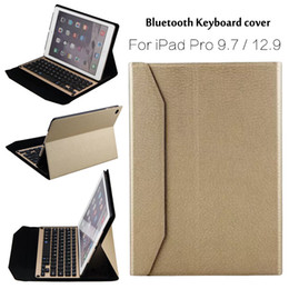 Wholesale Ipad Cases Keyboards - Wholesale- For iPad Pro 9.7 High-Quality Ultra thin Wireless Bluetooth Aluminum Keyboard Case cover For iPad Pro 12.9 + Gift