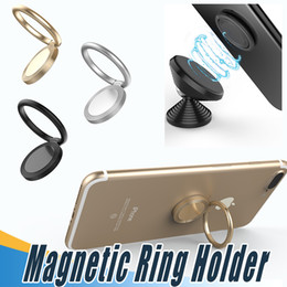 Wholesale Silver Mounting Ring - Fashion 360 Degree Stand Holder Magnetic Finger Ring Holder Mobile Phone Ring Mounts For iPhone 8 X Sumsung All Smart Phone