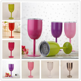 Wholesale Drink Ware - 10oz Wine Glasses Europe Style Stainless Steel Goblet Great Capacity Cup Champagne Creative Home Drinking Ware Glass 10oz 400ml