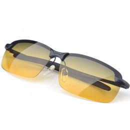Wholesale Day Night Vision Polarized - Wholesale- HD Pro Driving Glasses Polarized Day Night vision Sunglasses lunettes de soleil homme lentes de sol occhiali da sole
