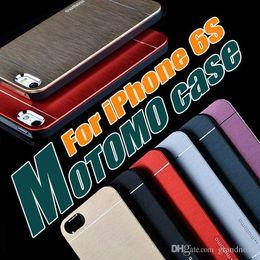 Wholesale Iphone Brush Aluminium - Motomo Brushed Aluminium METAL Slate Hard Back Case Cover For iPhone 7 6 6S Plus 4.7 5.5 inch 5S SE 5 Samsung Galaxy S7 S6 edge J7 10pcs