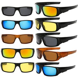 Wholesale Blue Lens Safety Glasses - Mens Polarized Sunglasses High Quality Yellow Night Vision Lens Male Driving Safety Sun Glasses 100% UV400 Goggles HD Lens Sports Eyewears