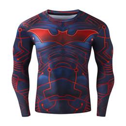 Wholesale Hulk T Shirts - 2017 Hot 3D Captain Amercian Tight Gym men tees Fitness Superman Bodybuilding Compression shirts Superhero Hulk Ironman men T shirts