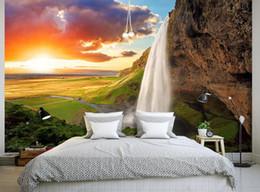 2019 paesaggistica naturale Top Classic 3D stile europeo alta montagna e montagne foresta tramonto paesaggio naturale sullo sfondo paesaggistica naturale economici