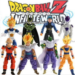 Wholesale Toy Garage Kits - Dragon Ball Set Model Toy Joint Mobility Cartoon Characters Super Saiyan Garage Kit For Office And A Living Room Fashion Toys 41th A1