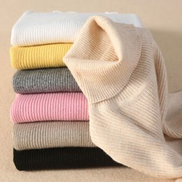 Wholesale Thick Tights For Women - New arrival women pullover sweaters turtleneck women tops Crew Neck solid color 18 colors Tights winter warm for wholesale