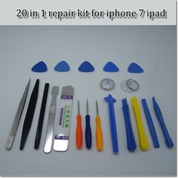 Wholesale Magnetic Iphone Tools - 20 in 1 Cellphone Opening Repair Tools Kit Magnetic Screwdrivers Set For iPhone Samsung Tablet Hand Tools hand repair kit free shipping