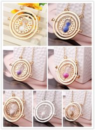 Wholesale Rotating Plate - Hot Sale Movie Potter Time Collar Necklace Turner Hourglass Harry Necklace Hermione Granger Rotating Pendant Jewelry Wholesale