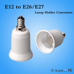 Adaptadores e27 e12 online-E12 a E26 / E27 adaptador de soporte de lámpara convertidor adaptador de lámpara E12 macho a E26 hembra envío gratis