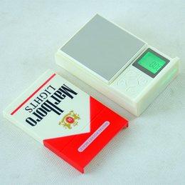 Canada Mini-étui à cigarettes Balance de poche numérique Cigarette Pack Balance de bijoux numérique 500g / 0.1g 100g / 0.01 200g / 0.01 Offre