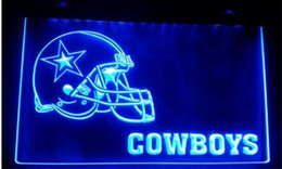 Wholesale Neon Lights Signs - b-163 Dallas Cowboys Helmet beer bar pub club 3d signs LED Neon Light Sign home decor shop crafts
