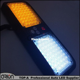 Wholesale Police Blue Strobe Lights - Super Bright Amber White Car Truck Emergency 86 Led strobe light   Visor light   Warning Police light Lamp White+Amber Yellow