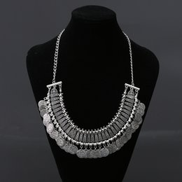 Wholesale Choker Findings - Wholesale- Find Me 2017 new brand boho Fashion collar choker necklace & pendant Vintage big coin statement necklace women Jewelry wholesale