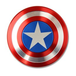 Wholesale 2017 New Creative Captain America Shield Hand Spinner Iron Man Fidget Alloy Puzzle Toys EDC Autism ADHD Finger Gyro Toy Adult