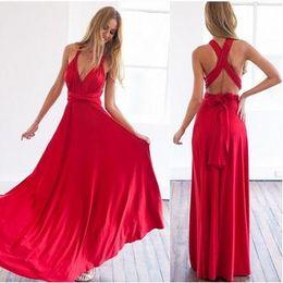 Wholesale Long Sleeve Elegant Maxi Dresses - New European Women's Elegant Long Party Dress Sleeveless Backless Slim Maxi causual Dress