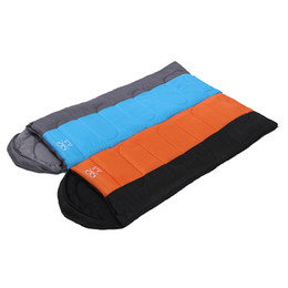 Wholesale Winter Cap Types - Wholesale- Super warm spring and autumn adult envelopes with cap cotton sleeping bags can be spliced outdoor camping travel essential