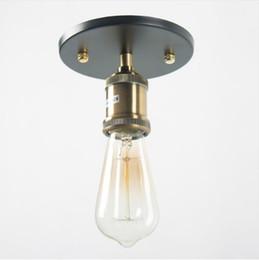 E27 Retro lâmpada de parede de ferro do vintage 40 W luzes lampe Antigo industrial Adequado para sala de estar quarto Frete Grátis de Fornecedores de luzes de tecto semi-niveladas rústicas