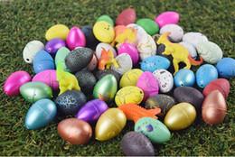 Wholesale Boys Dino - 60 pcs set Hatching Colorful Dinosaur Add Cracks Grow Eggs Magic Water Growing Dino Egg Cute Children Kids Toy For Boys hot