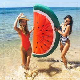 Wholesale Inflatable Boards - 180*90cm Inflatable Watermelon Half Watermelon Inflatable Pool Float for Adult and Children Swimming Board Air Mattress Water Toys