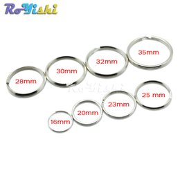 Wholesale key chain parts accessories - 100pcs lot Key Rings Key Chain Split O-Rings Silver Nickel-Plated Bag Parts Accessories