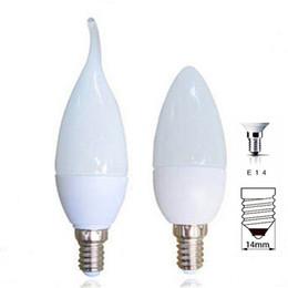 Wholesale White Candles - LED Bulb E14 110V 220V LED Candle Light 2835 SMD 10leds Chandelier Candle Lighting Home Decoration