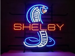 Wholesale Real Cobra - Fashion New Handcraft Shelby Cobra Real Glass Tubes Beer Bar Pub Display neon sign 19x15!!!Best Offer!
