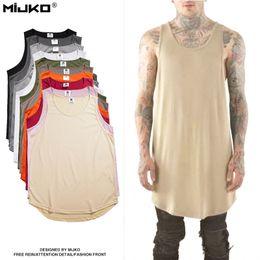 Wholesale Organic Cotton Jersey - 2017 Brand design fashion hip hop plain plus sleeveless t-shirt tank top curry jersey tank top men muscle tank top streetwear