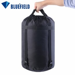 Wholesale Nylon Sleeping Bags - Wholesale- BLUEFIELD Lightweight Nylon Compression Stuff Sack Bag Outdoor Camping Sleeping Small Bag 40 * 20 * 20cm free shipping
