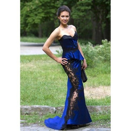 Wholesale Tailor Made Evening Gowns - 2017 high quality strapless sexy mermaid evening dress lace with a zipper evening gown with a custom-made gown with a tailored dress skirt,