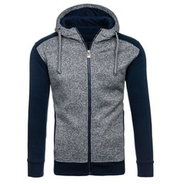 Wholesale Long Zip Sweaters - Free Shipping US Size M-2XL High Quality New Autumn and Winter Fashion Casual Zip Hoodie Sweater Slim