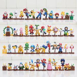 Super mario cogumelo figura on-line-13 pçs / set Super Mario Bros figuras 3-6 cm mini figuras Toy Goomba Luigi Koopa Troopa cogumelo jogo coleção modelo PVC bonecas