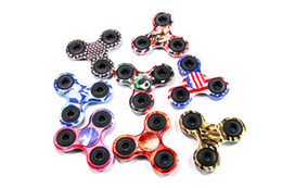 Wholesale Cheap Quality Toys - Cheap and high quality Camouflage HandSpinner CE fingertips spiral fingers gyro Brass Ceramic ball steel bearings Acrylic Toys free for DHL