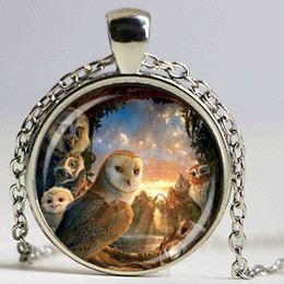 Wholesale Owl Legend - Legend of the Guardians pendant owl necklace movie handmade jewelry for fans