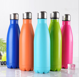 Wholesale Wholesalers Folding Water Bottle - 500ml Cola Shaped Bottle Insulated Water Bottle Creative Thermos Coke cup Water Bottle Outdoor Sports Bicycle Travel Cup